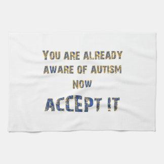 Autism Accept It Yellow/Blue Towel