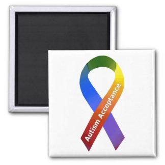 Autism Acceptance 2 Inch Square Magnet