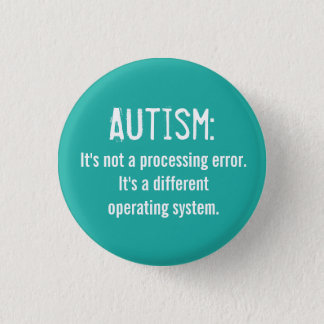 Autism Acceptance Button: Operating System Pinback Button