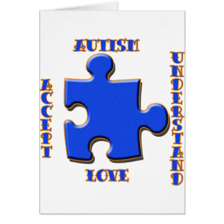 Autism, Acceptance, Love, Understand Card