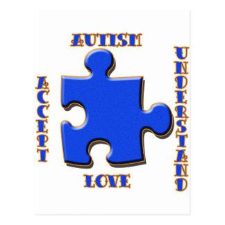 Autism, Acceptance, Love, Understand Postcard