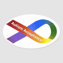 Autism Acceptance Oval Sticker