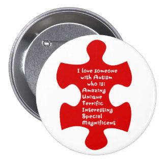 Autism Acrostic Button