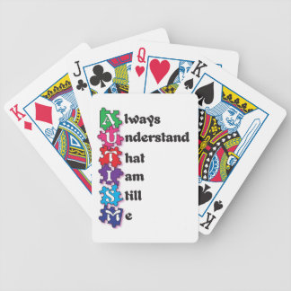 Autism Acrostic Poem Bicycle Playing Cards