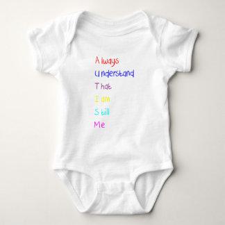 Autism Acrostic Poem Crayon Baby Bodysuit