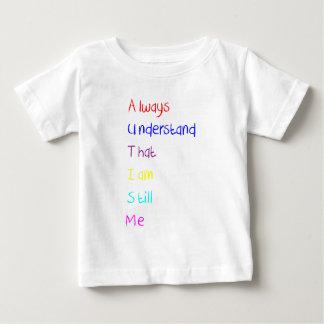 Autism Acrostic Poem Crayon Baby T-Shirt
