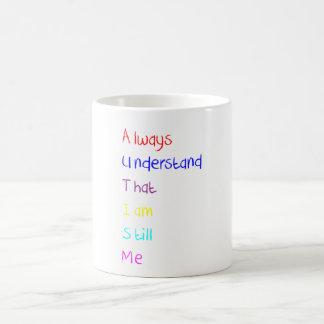 Autism Acrostic Poem Crayon Coffee Mug