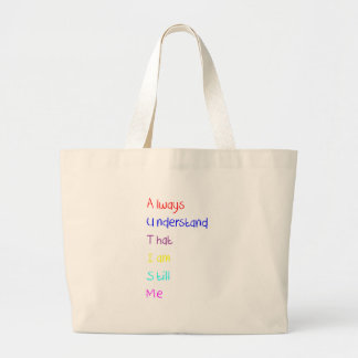 Autism Acrostic Poem Crayon Large Tote Bag