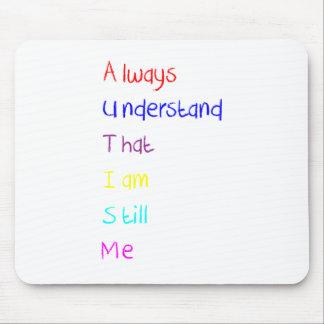 Autism Acrostic Poem Crayon Mouse Pad