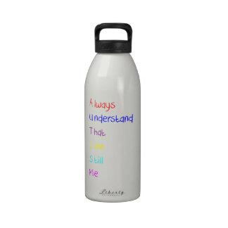 Autism Acrostic Poem Crayon Water Bottle
