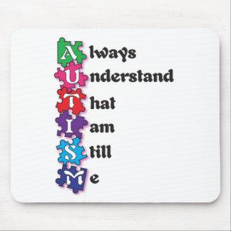 Autism Acrostic Poem Mouse Pad