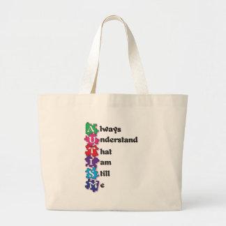 Autism Acrostic Poem Tote Bags