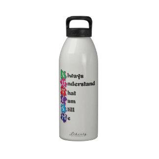 Autism Acrostic Poem Drinking Bottle