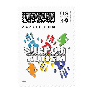Autism Advocacy Handprints Postage Stamp