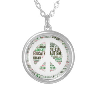 Autism Advocate  and Educate Necklace  Peace GTK