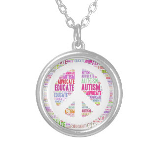 Autism Advocate  and Educate Peace Necklace GTK