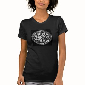 Autism Advocate Educate Circle T-Shirt GoTeamKate