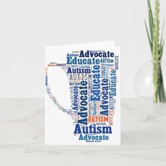 Autism Advocate Educate Note Card GoTeamKate