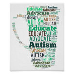 Autism Advocate Educate Poster GoTeamKate