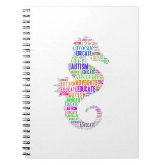 autism Advocate Educate Seahorse NoteBook GTK