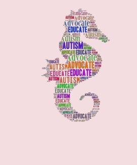 Autism Advocate Educate Seahorse T-ShirtGoTeamKate
