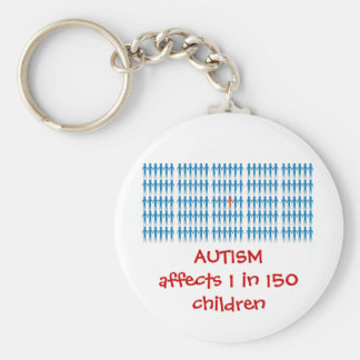 Autism Affects 1 In Every 150 Children Basic Round Button Keychain