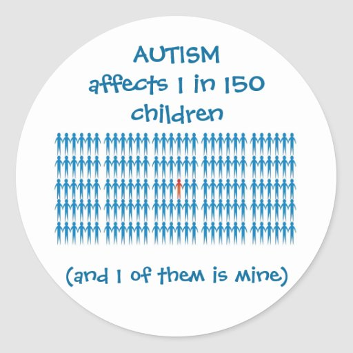 Autism Affects 1 In Every 150 Children Stickers