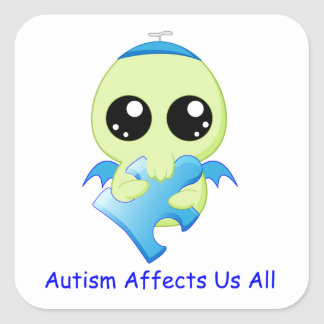 Autism Affects - Baby Cthulhu Sticker