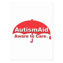 Autism Aid aware To care Postcard