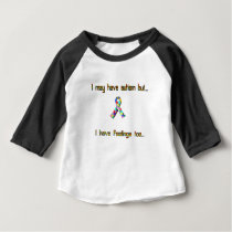 Autism and Feelings Too Baby T-Shirt
