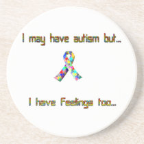 Autism and Feelings Too Drink Coaster