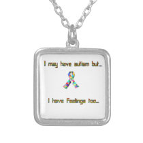 Autism and Feelings Too Silver Plated Necklace