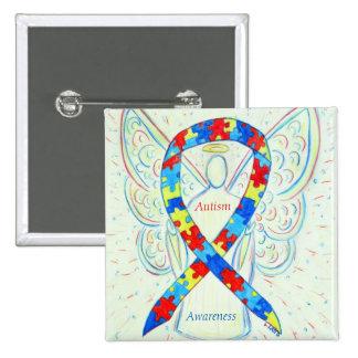 Autism Angel Puzzle Awareness Ribbon Pins