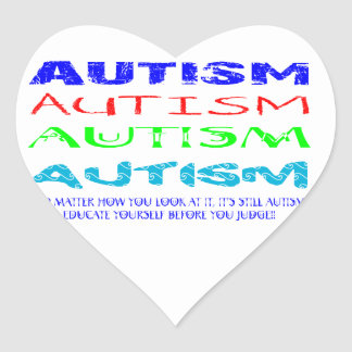 Autism Anyway You Look At It Heart Sticker
