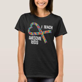 Autism Aspergers Teacher Puzzle Ribbon Shirt