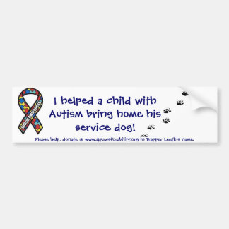 Autism Assistance Service Dog bumper sticker