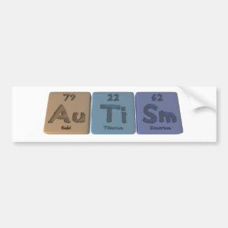 Autism-Au-Ti-Sm-Gold-Titanium-Samarium Bumper Sticker
