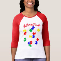 Autism Aunt    Sleeve Raglan (Fitted) T-Shirt