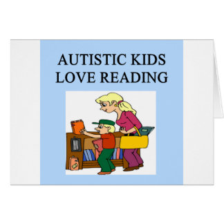 autism auristic kids love reading card