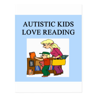autism auristic kids love reading postcard