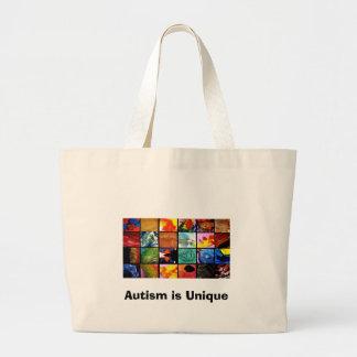 AUTISM, Autism is Unique Large Tote Bag