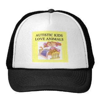 autism autistic kids love animals cats dogs trucker hat