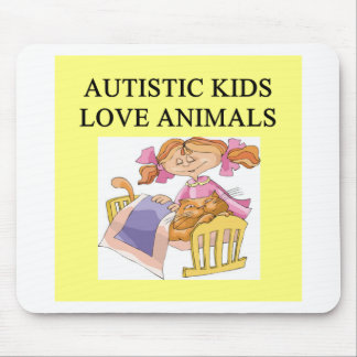autism autistic kids love animals cats dogs mouse pad