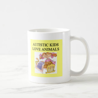 autism autistic kids love animals cats dogs classic white coffee mug