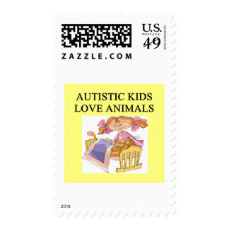autism autistic kids love animals cats dogs stamps