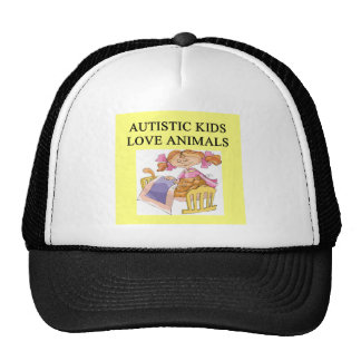 autism autistic kids love animals cats dogs trucker hat