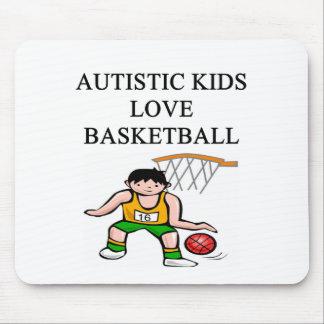 autism autistic kids love basketball mouse pad