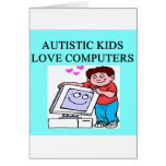 autism autistic kids love computers greeting card