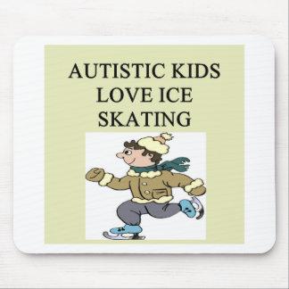 autism autistic kids love ice skating mouse pad