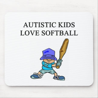 autism autistic kids love softball baseball mouse pad
